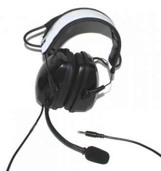 Gehörschutzheadset für Smartphones mit 3,5mm Klinke 4polig